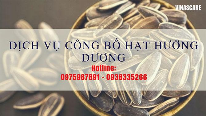 Công bố chất lượng hạt hướng dương cho doanh nghiệp Việt Nam (Ảnh Vinascare)