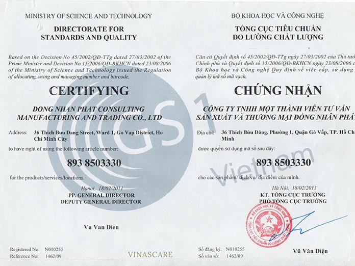 Mã số mã vạch - Dịch vụ tư vấn đăng ký mã số mã vạch (Ảnh VINASCARE)