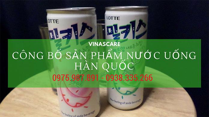 Công bố sản phẩm nước uống Hàn Quốc nhanh chóng (Ảnh VINASCARE)