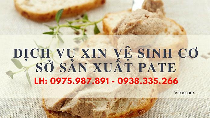 Dịch vụ xin vệ sinh cho cơ sở sản xuất Pate (Ảnh Vinascare)