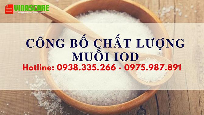 Công bố tiêu chuẩn chất lượng muối iod nhanh chóng (Ảnh Vinascare)